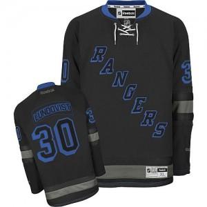 Reebok New York Rangers 30 Men's Henrik Lundqvist Authentic Black Ice NHL Jersey
