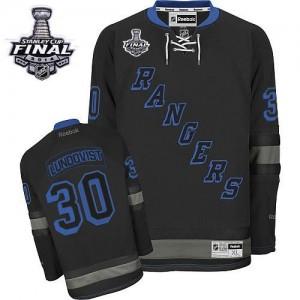 Reebok New York Rangers 30 Men's Henrik Lundqvist Authentic Black Ice 2014 Stanley Cup NHL Jersey