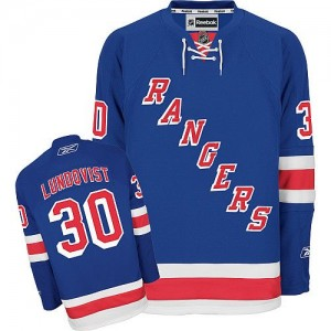 Reebok New York Rangers 30 Men's Henrik Lundqvist Authentic Royal Blue Home NHL Jersey