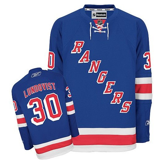 quality design 35a66 caafd Reebok New York Rangers 30 Men's Henrik Lundqvist Authentic Royal Blue Home  NHL Jersey