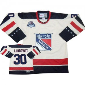 Reebok New York Rangers 30 Men's Henrik Lundqvist Authentic White Winter Classic NHL Jersey