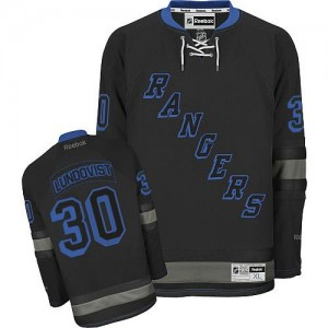 Reebok New York Rangers 30 Men's Henrik Lundqvist Premier Black Ice NHL Jersey