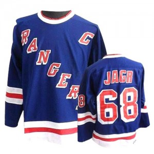 CCM New York Rangers 68 Men's Jaromir Jagr Authentic Royal Blue Throwback NHL Jersey