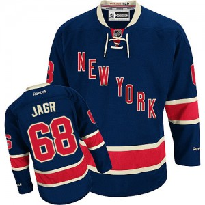 Reebok New York Rangers 68 Men's Jaromir Jagr Premier Navy Blue Third NHL Jersey