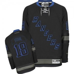 Reebok New York Rangers 18 Men's Marc Staal Authentic Black Ice NHL Jersey