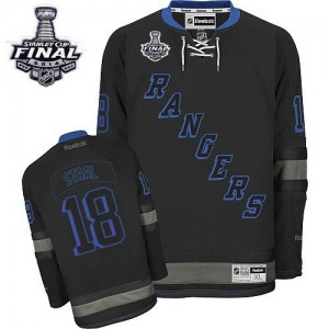 Reebok New York Rangers 18 Men's Marc Staal Authentic Black Ice 2014 Stanley Cup NHL Jersey
