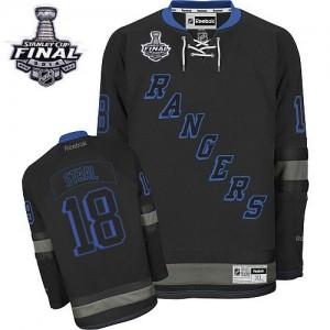 Reebok New York Rangers 18 Men's Marc Staal Premier Black Ice 2014 Stanley Cup NHL Jersey