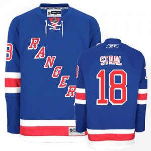 Reebok New York Rangers 18 Men's Marc Staal Authentic Royal Blue Home NHL Jersey