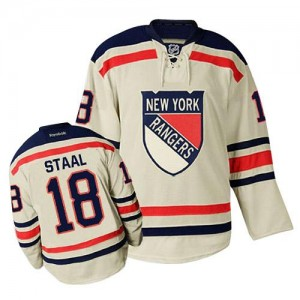 Reebok New York Rangers 18 Men's Marc Staal Premier Cream Winter Classic NHL Jersey