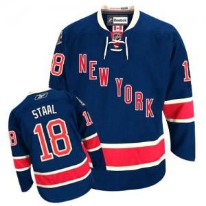 Reebok New York Rangers 18 Men's Marc Staal Premier Navy Blue Third NHL Jersey