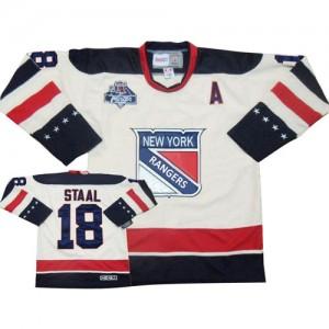 Reebok New York Rangers 18 Men's Marc Staal Premier White Winter Classic NHL Jersey
