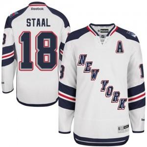 Reebok New York Rangers 18 Men's Marc Staal Authentic White 2014 Stadium Series NHL Jersey