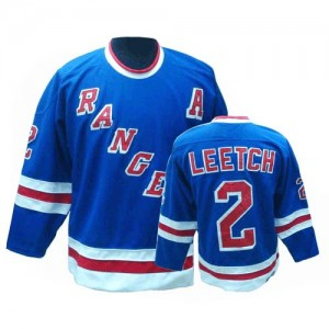 CCM New York Rangers 2 Men's Brian Leetch Authentic Royal Blue Throwback NHL Jersey