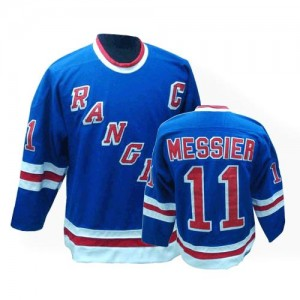 CCM New York Rangers 11 Men's Mark Messier Authentic Royal Blue Throwback NHL Jersey