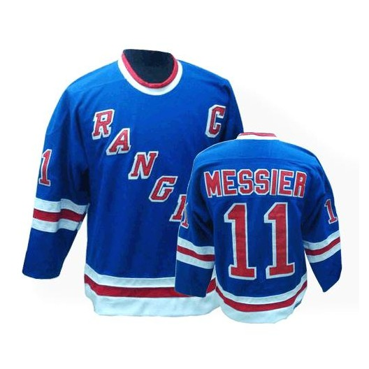 size 40 e11db 7be62 CCM New York Rangers 11 Men's Mark Messier Authentic Royal Blue Throwback  NHL Jersey