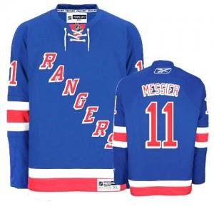 Reebok New York Rangers 11 Men's Mark Messier Authentic Royal Blue Home NHL Jersey