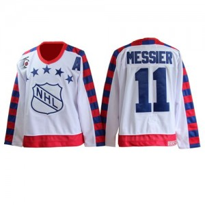 CCM New York Rangers 11 Men's Mark Messier Authentic White All Star Throwback 75th NHL Jersey