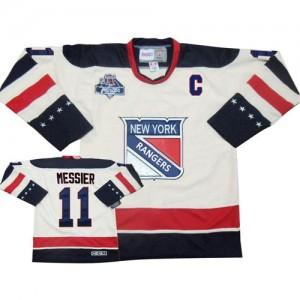 Reebok New York Rangers 11 Men's Mark Messier Authentic White Winter Classic NHL Jersey