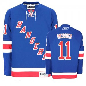 Reebok New York Rangers 11 Men's Mark Messier Premier Royal Blue Home NHL Jersey