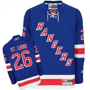 Reebok New York Rangers 26 Men's Martin St. Louis Authentic Royal Blue Home NHL Jersey