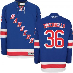 Reebok New York Rangers 36 Men's Mats Zuccarello Authentic Royal Blue Home NHL Jersey