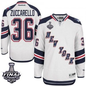 Reebok New York Rangers 36 Men's Mats Zuccarello Authentic White 2014 Stadium Series 2014 Stanley Cup NHL Jersey
