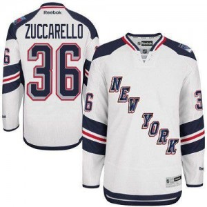Reebok New York Rangers 36 Men's Mats Zuccarello Premier White 2014 Stadium Series NHL Jersey
