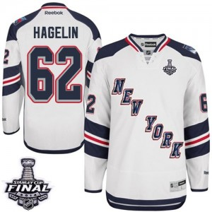 Reebok New York Rangers 62 Men's Carl Hagelin Authentic White 2014 Stadium Series 2014 Stanley Cup NHL Jersey