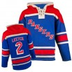 Old Time Hockey New York Rangers 2 Men's Brian Leetch Authentic Royal Blue Sawyer Hooded Sweatshirt NHL Jersey