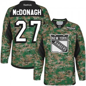 Reebok New York Rangers 27 Men's Ryan McDonagh Authentic Camo Veterans Day Practice NHL Jersey