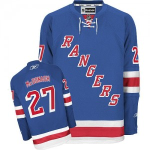 Reebok New York Rangers 27 Men's Ryan McDonagh Authentic Royal Blue Home NHL Jersey