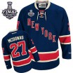 Reebok New York Rangers 27 Men's Ryan McDonagh Premier Navy Blue Third 2014 Stanley Cup NHL Jersey