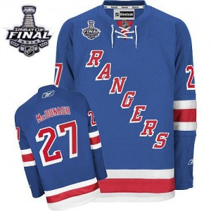 Reebok New York Rangers 27 Men's Ryan McDonagh Authentic Royal Blue Home 2014 Stanley Cup NHL Jersey