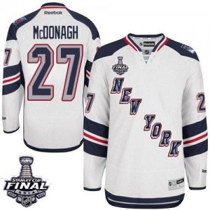 Reebok New York Rangers 27 Men's Ryan McDonagh Authentic White 2014 Stadium Series 2014 Stanley Cup NHL Jersey