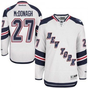 Reebok New York Rangers 27 Men's Ryan McDonagh Premier White 2014 Stadium Series NHL Jersey
