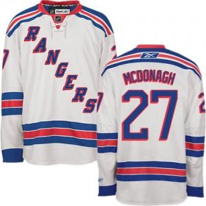 Reebok New York Rangers 27 Youth Ryan McDonagh Authentic White Away NHL Jersey