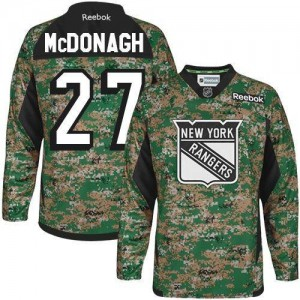 Reebok New York Rangers 27 Youth Ryan McDonagh Premier Camo Veterans Day Practice NHL Jersey
