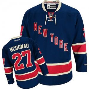 Reebok New York Rangers 27 Youth Ryan McDonagh Authentic Navy Blue Third NHL Jersey