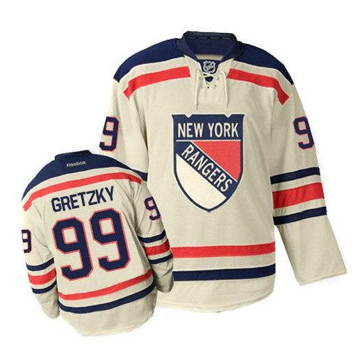 best website 90c3a 953a0 Reebok New York Rangers 99 Men's Wayne Gretzky Authentic Cream Winter  Classic NHL Jersey