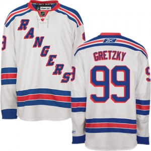 Reebok New York Rangers 99 Men's Wayne Gretzky Authentic White Away NHL Jersey