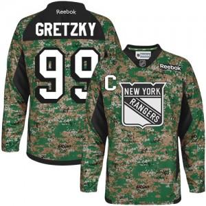 Reebok New York Rangers 99 Men's Wayne Gretzky Premier Camo Veterans Day Practice NHL Jersey