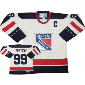 CCM New York Rangers 99 Youth Wayne Gretzky Authentic White Throwback NHL Jersey