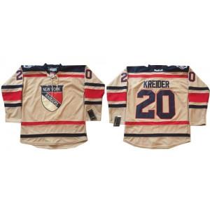 Reebok New York Rangers 20 Men's Chris Kreider Authentic Cream 2012 Winter Classic NHL Jersey