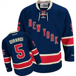 Reebok New York Rangers 5 Men's Dan Girardi Authentic Navy Blue Third NHL Jersey