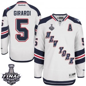 Reebok New York Rangers 5 Men's Dan Girardi Authentic White 2014 Stadium Series 2014 Stanley Cup NHL Jersey