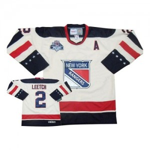 Reebok New York Rangers 2 Men's Brian Leetch Authentic White Winter Classic NHL Jersey