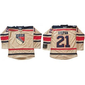 Reebok New York Rangers 21 Men's Derek Stepan Authentic Cream 2012 Winter Classic NHL Jersey