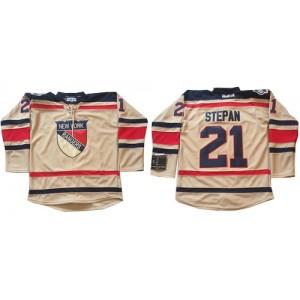 Reebok New York Rangers 21 Men's Derek Stepan Premier Cream 2012 Winter Classic NHL Jersey
