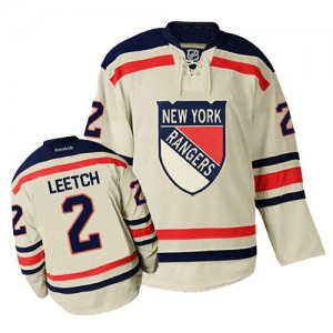 Reebok New York Rangers 2 Men's Brian Leetch Authentic Cream Winter Classic NHL Jersey