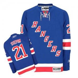 Reebok New York Rangers 21 Men's Derek Stepan Authentic Royal Blue Home NHL Jersey